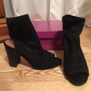 NWOT Black booties (do have box)
